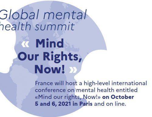 Vertice internazionale sulla Salute Mentale a Parigi, il 5 e 6 Ottobre. Primo annuncio